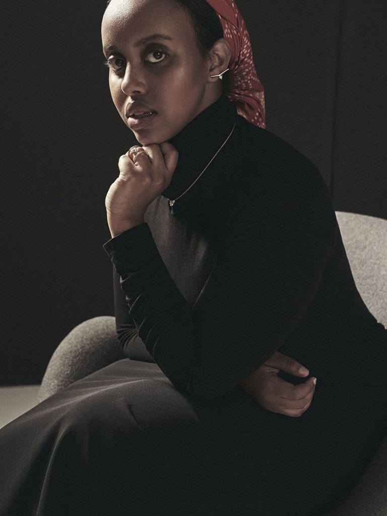 Miski Muse modeling Ame Jewelry